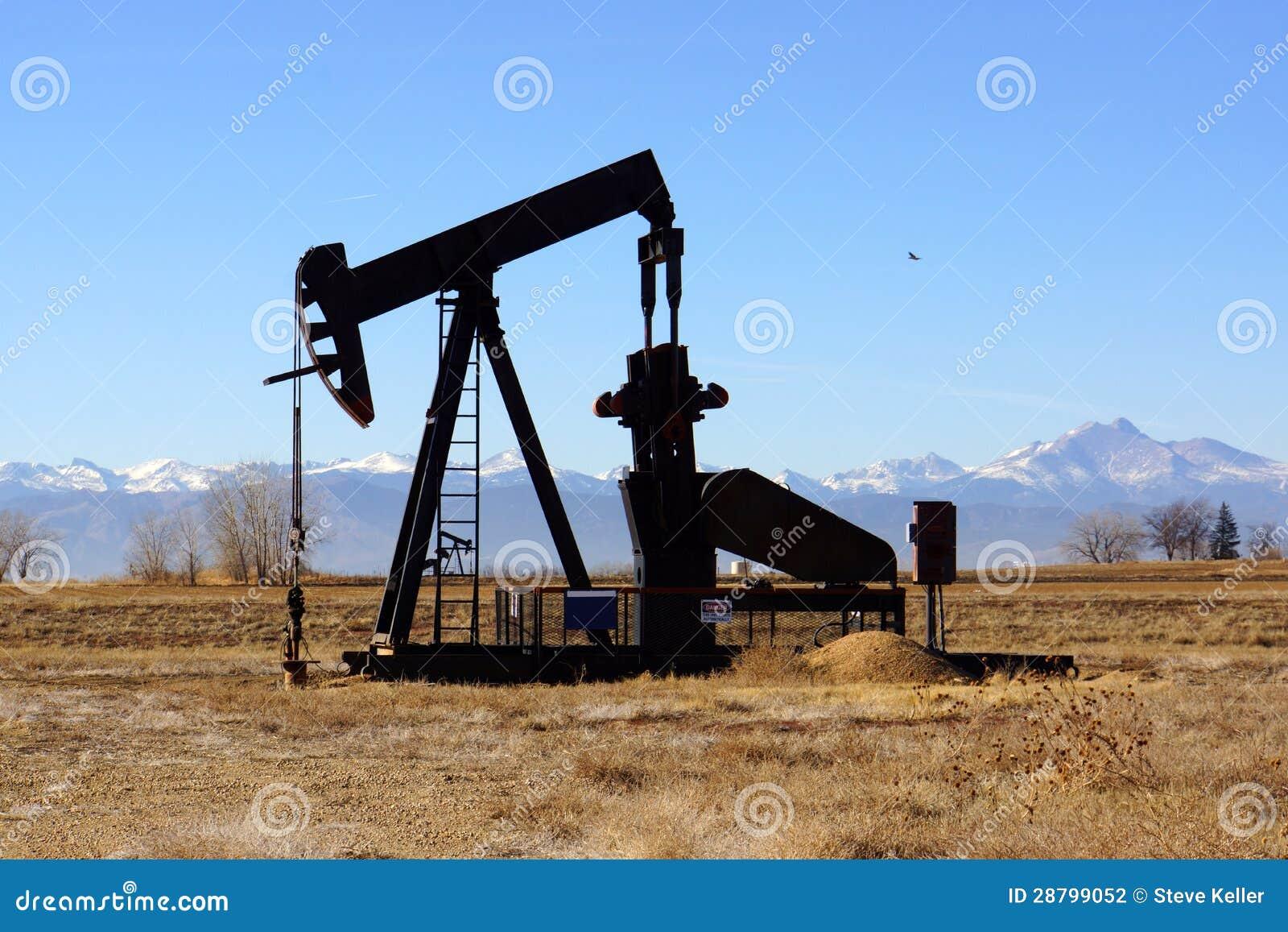 Gas Prices In Colorado >> Colorado oil pump stock photo. Image of rockies, eastern ...