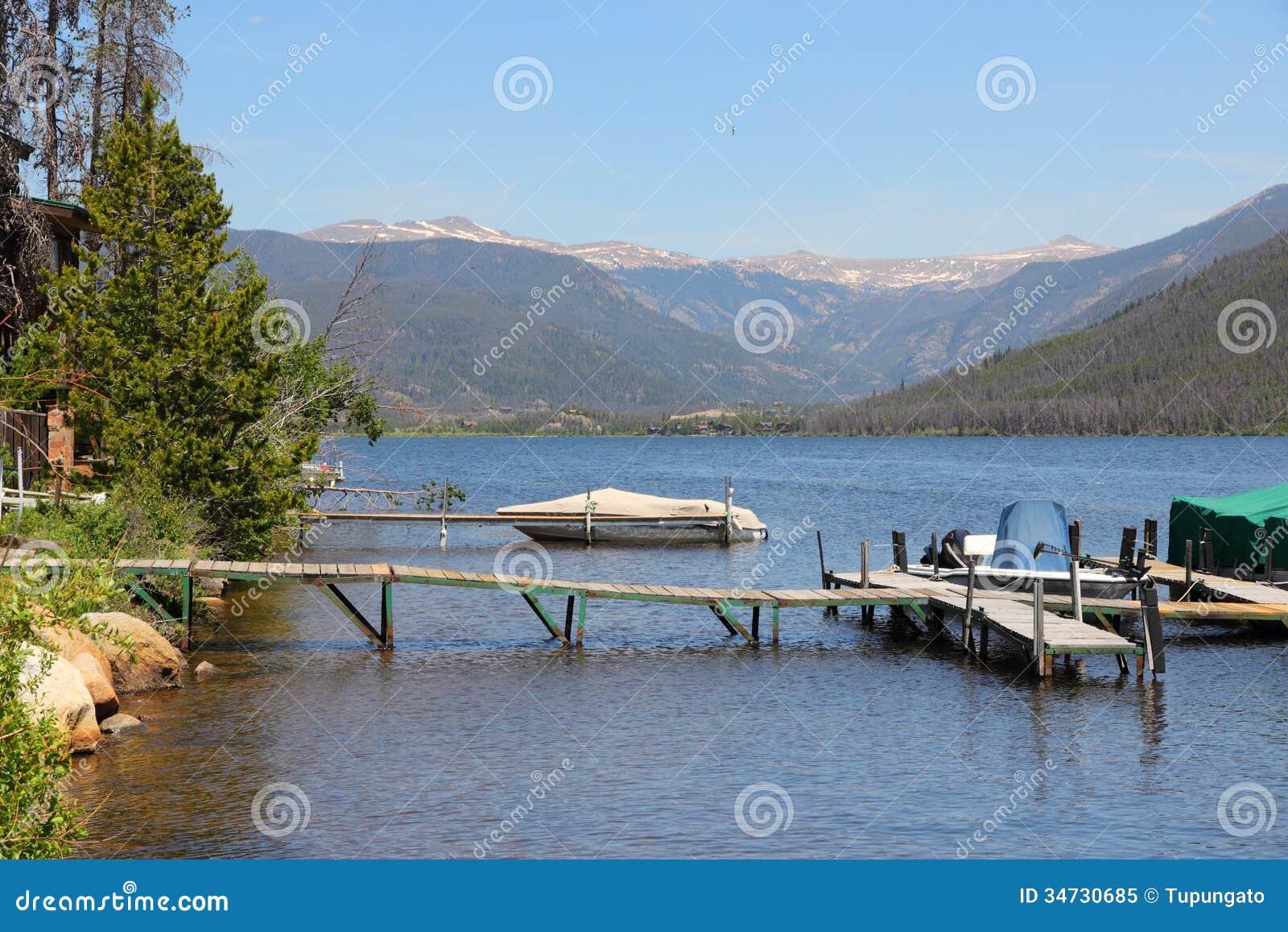 Colorado Shadow Mountain Lake Stock Image Image Of Arapaho