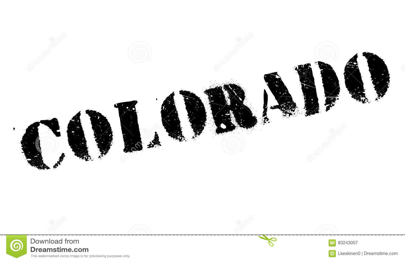 Colorado Stamp Rubber Grunge