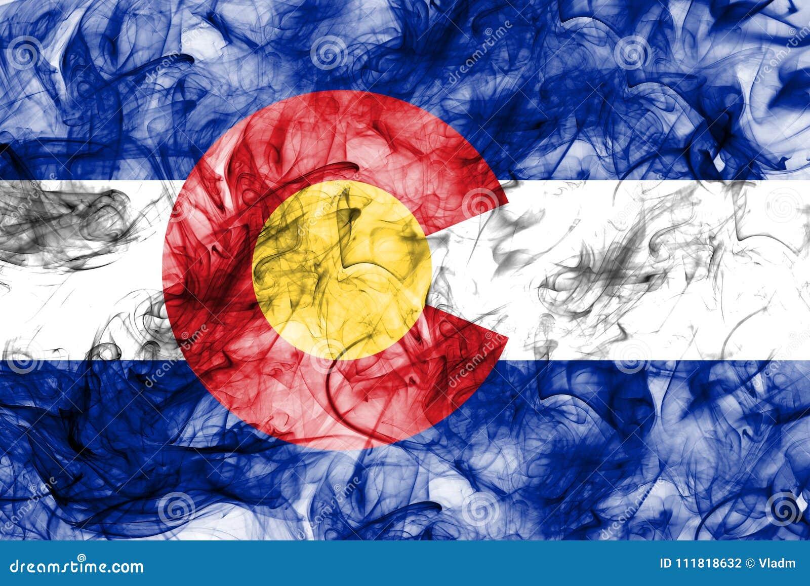 Colorado state smoke flag, United States Of America