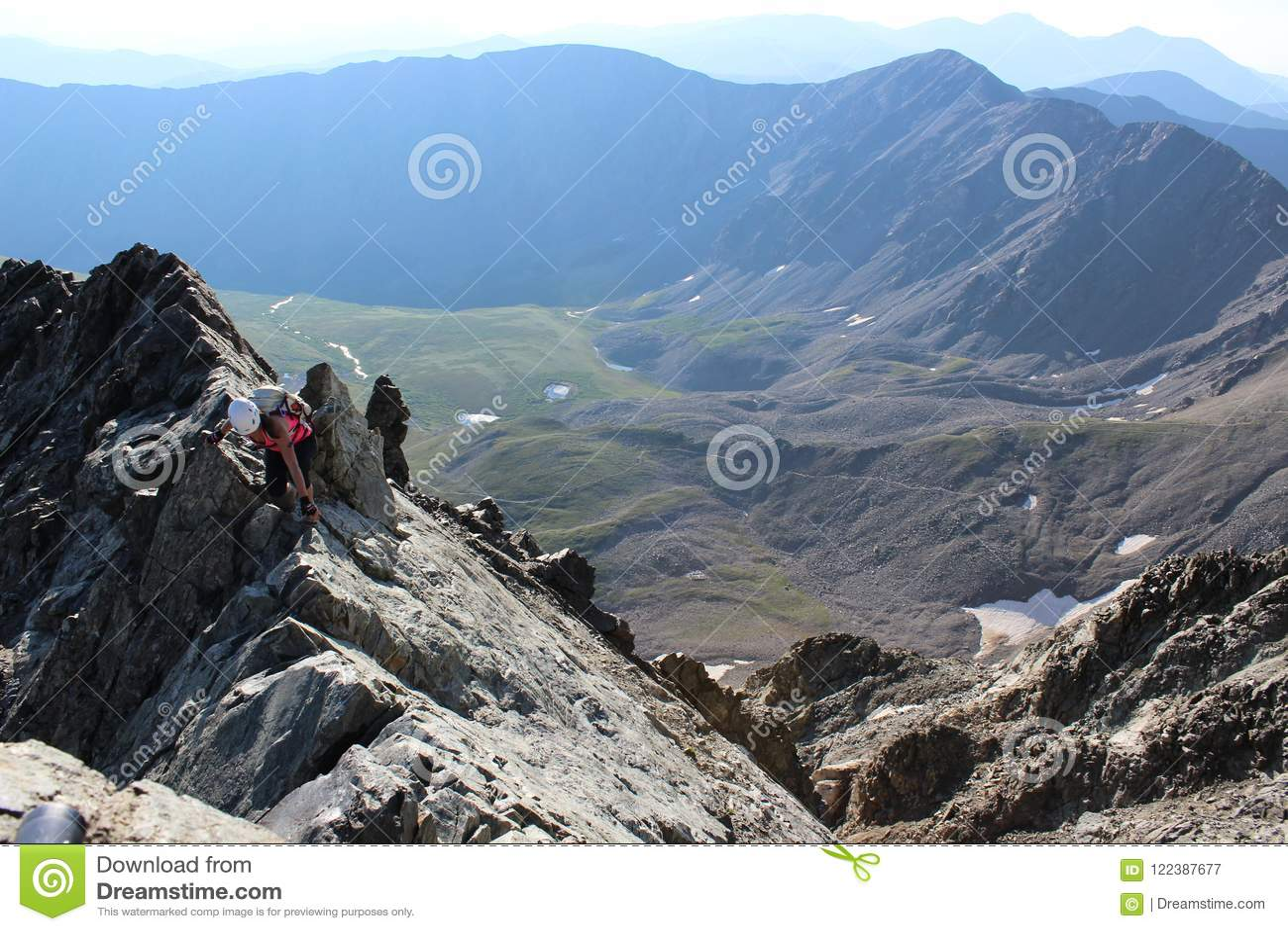 A Women Climbing Torreys Peak. Front Range 3ebeb3b49