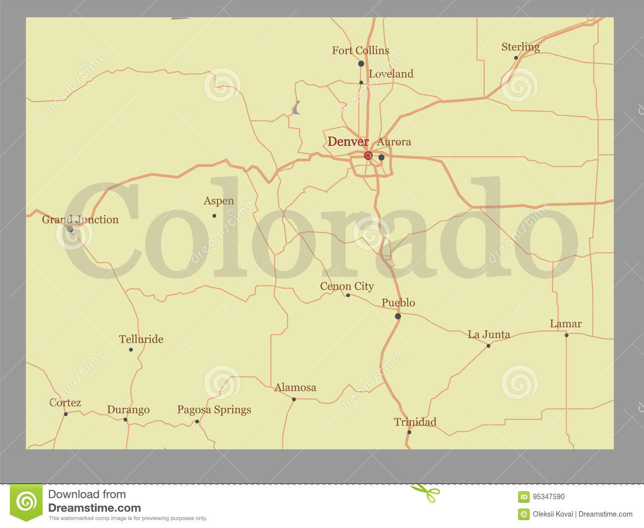 Colorado Vector State Map With Community Assistance And Activate