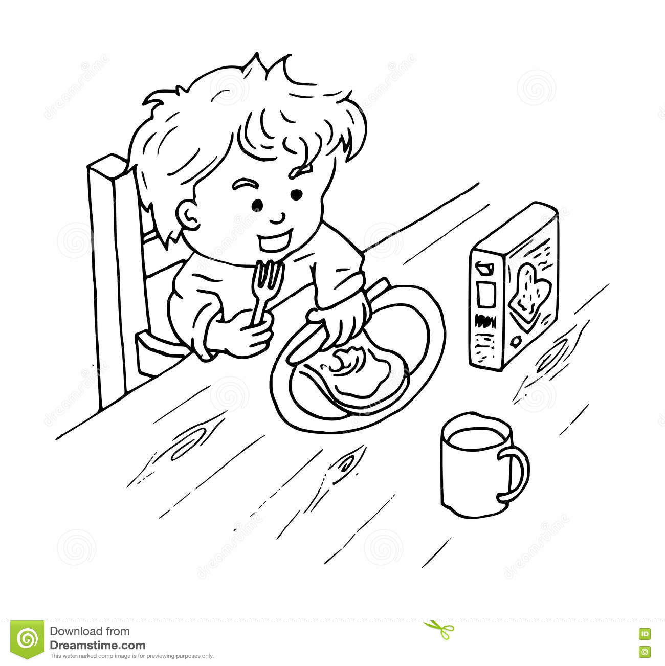 breakfast time coloring pages - photo#15