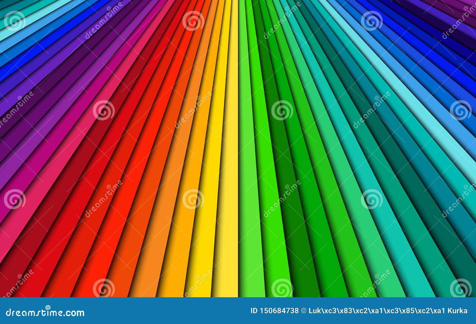Coloreó brillantemente el fondo abstracto, líneas de espectro, modelo brillante, ejemplo simple