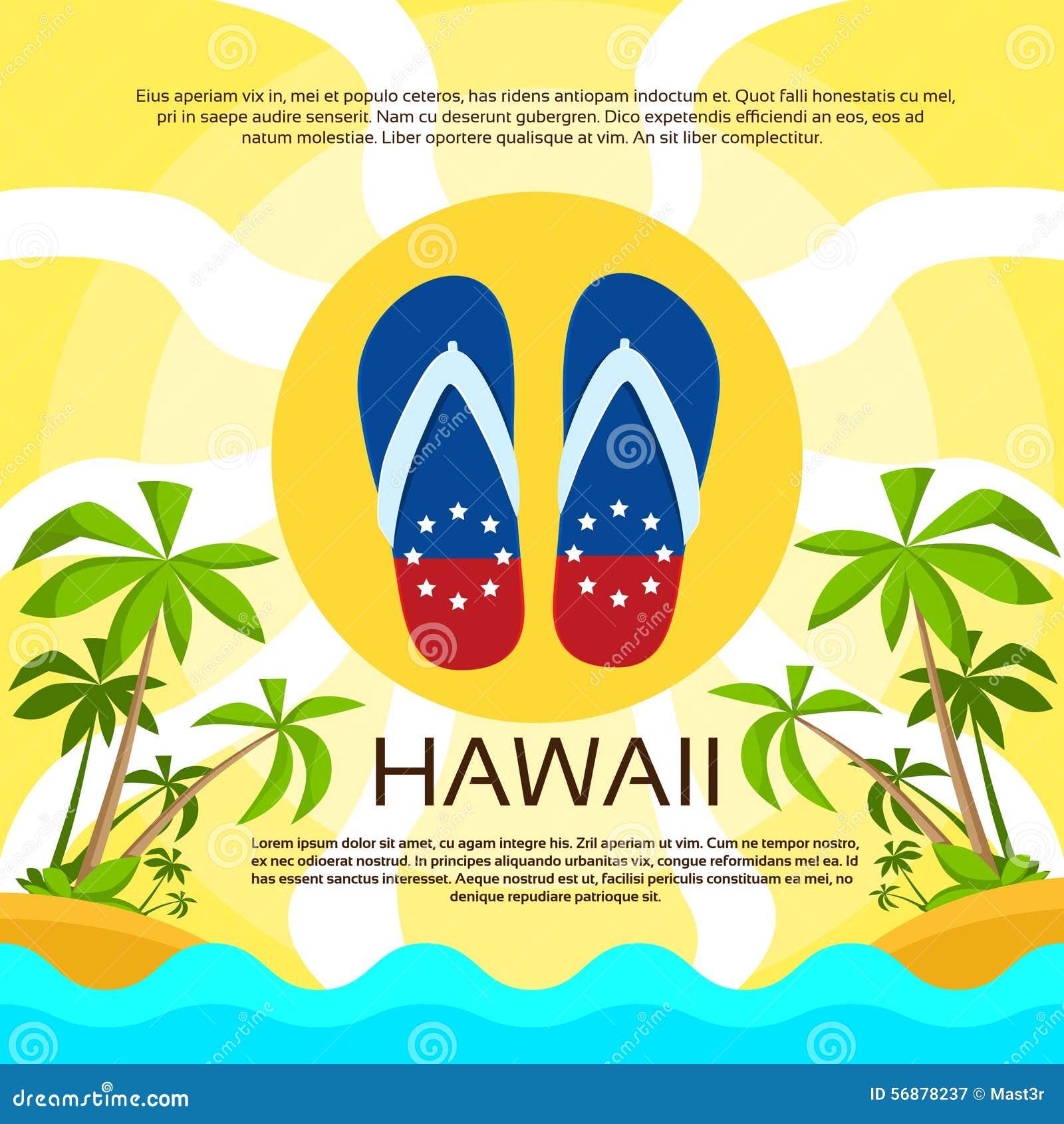 Colore della bandiera delle Hawai della sabbia di flip-flop della spiaggia di estate