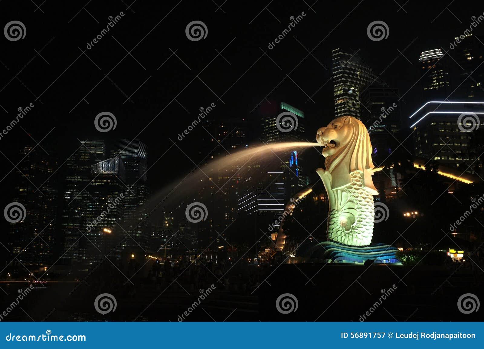 Colore della città di Singapore e scena di illuminazione