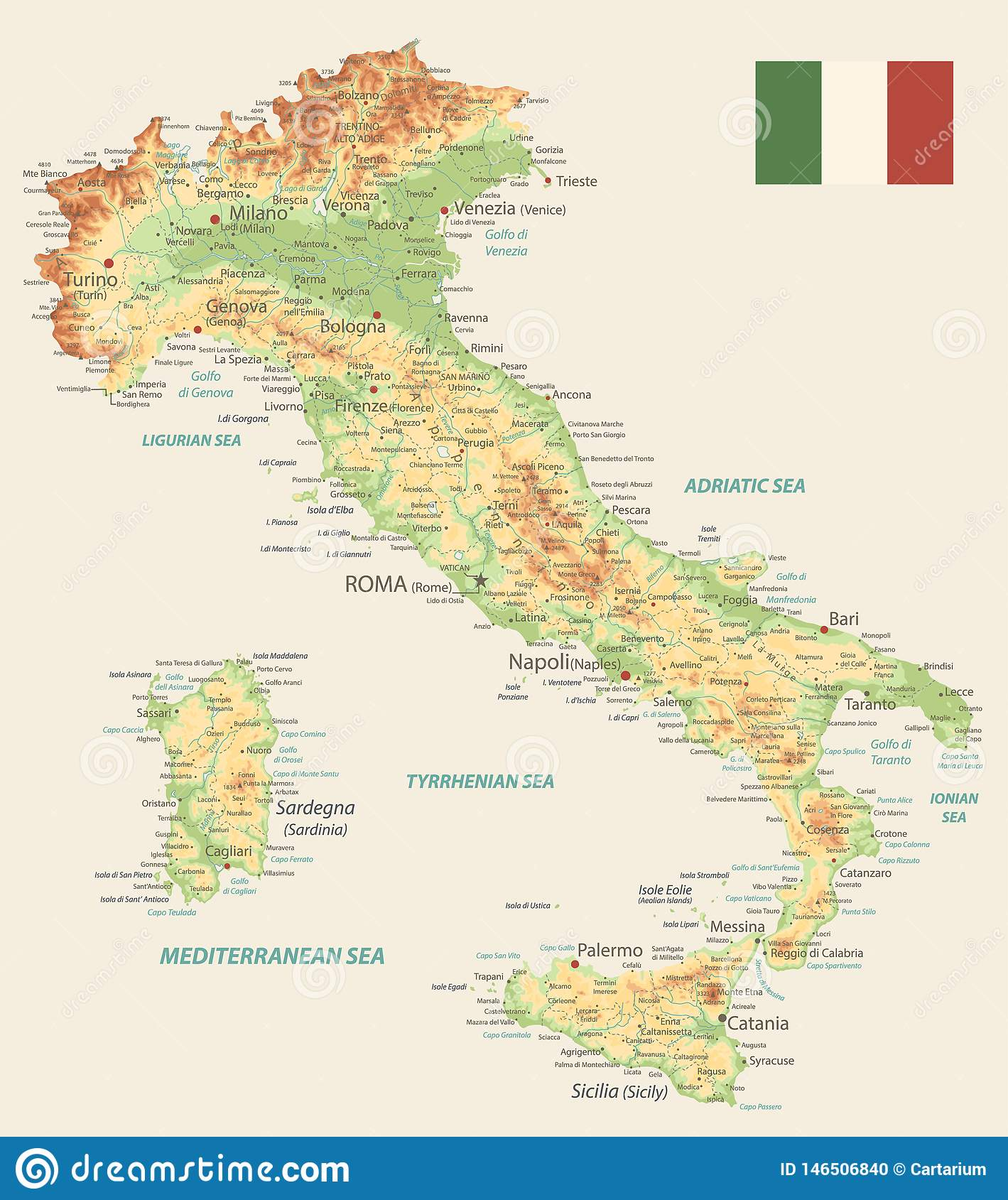 Mari D Italia Cartina