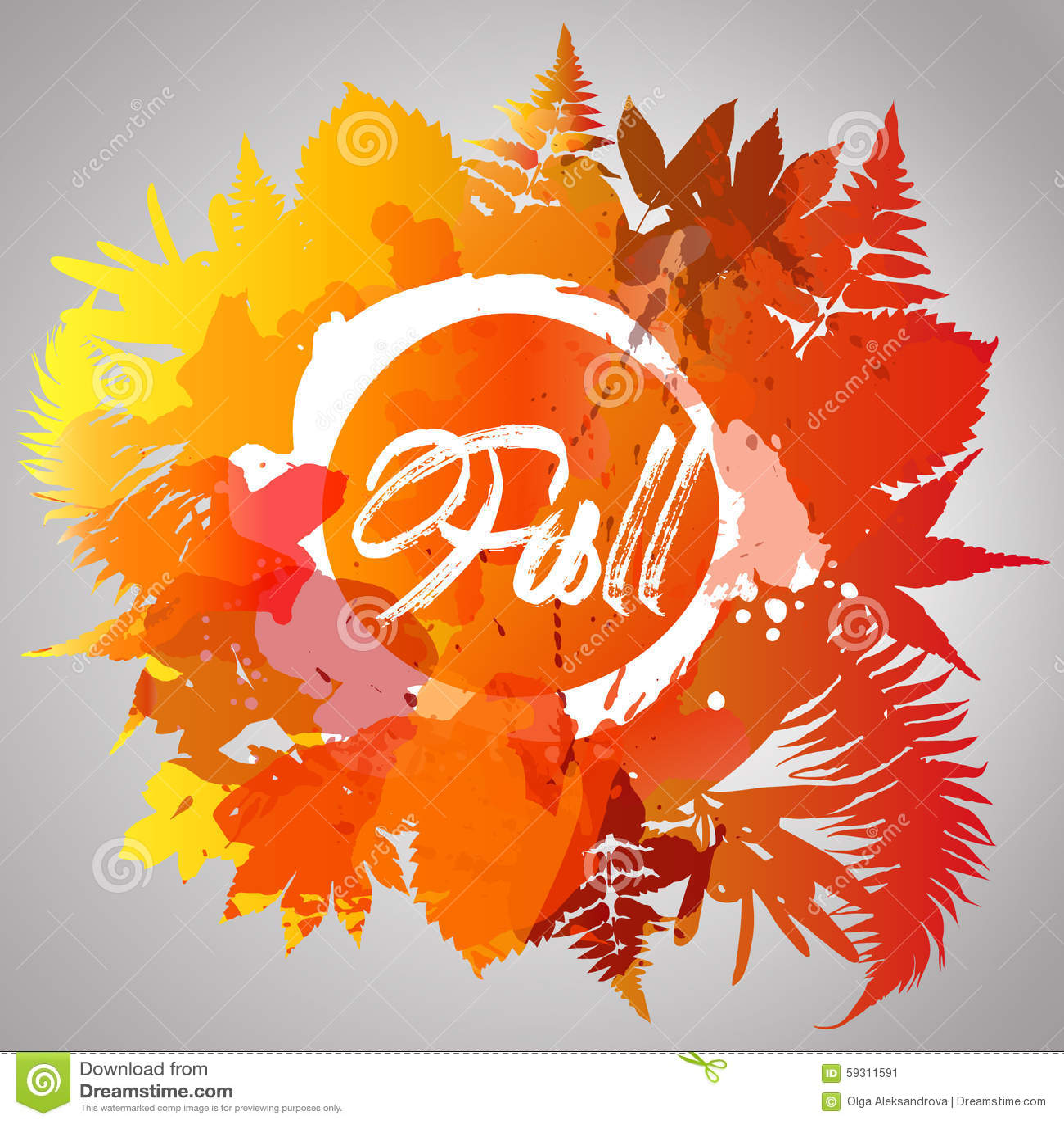 Colore di caduta del fondo di autunno delle foglie di - Caduta fogli di colore stampabili ...