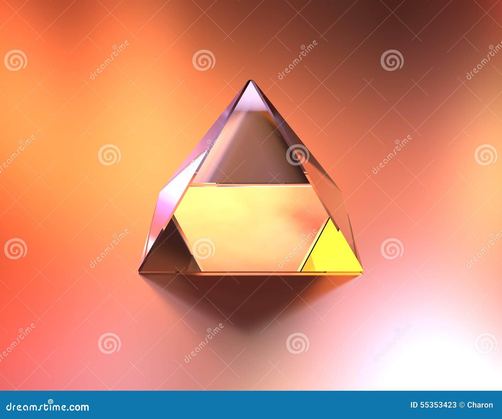 Colore di vetro della piramide delle luci