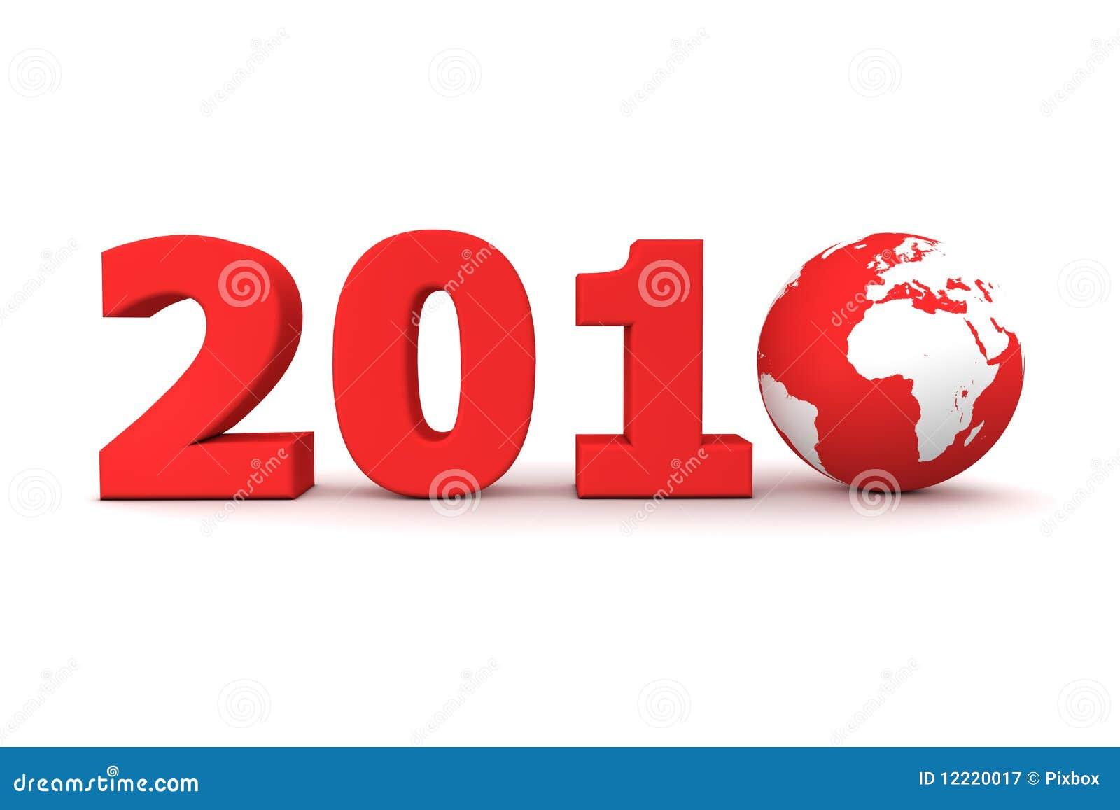 Colore rosso 2010 del mondo di anno