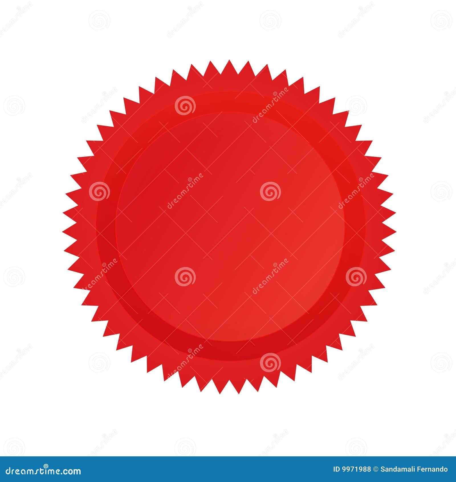 Colore rosso della guarnizione di approvazione