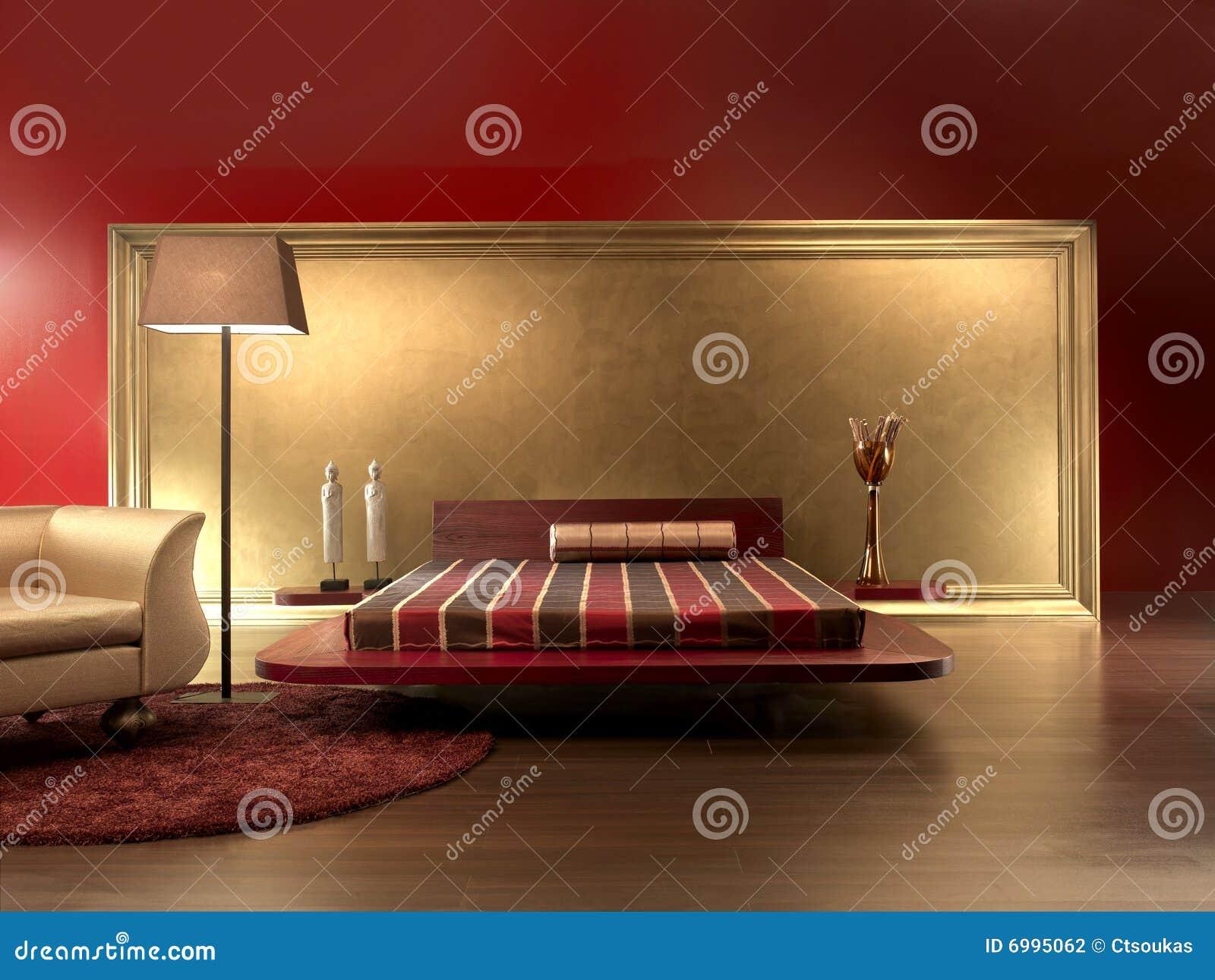 Stanze Da Letto Rosse : Colore rosso lussuoso di cuoio della camera da letto fotografia