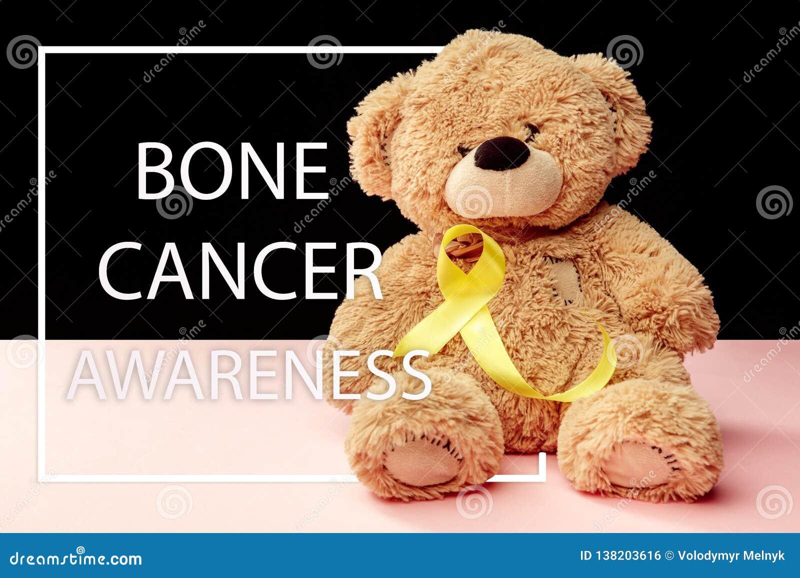 Colore simbolico del nastro giallo per consapevolezza del cancro alle ossa del sarcoma e la prevenzione di suicidio