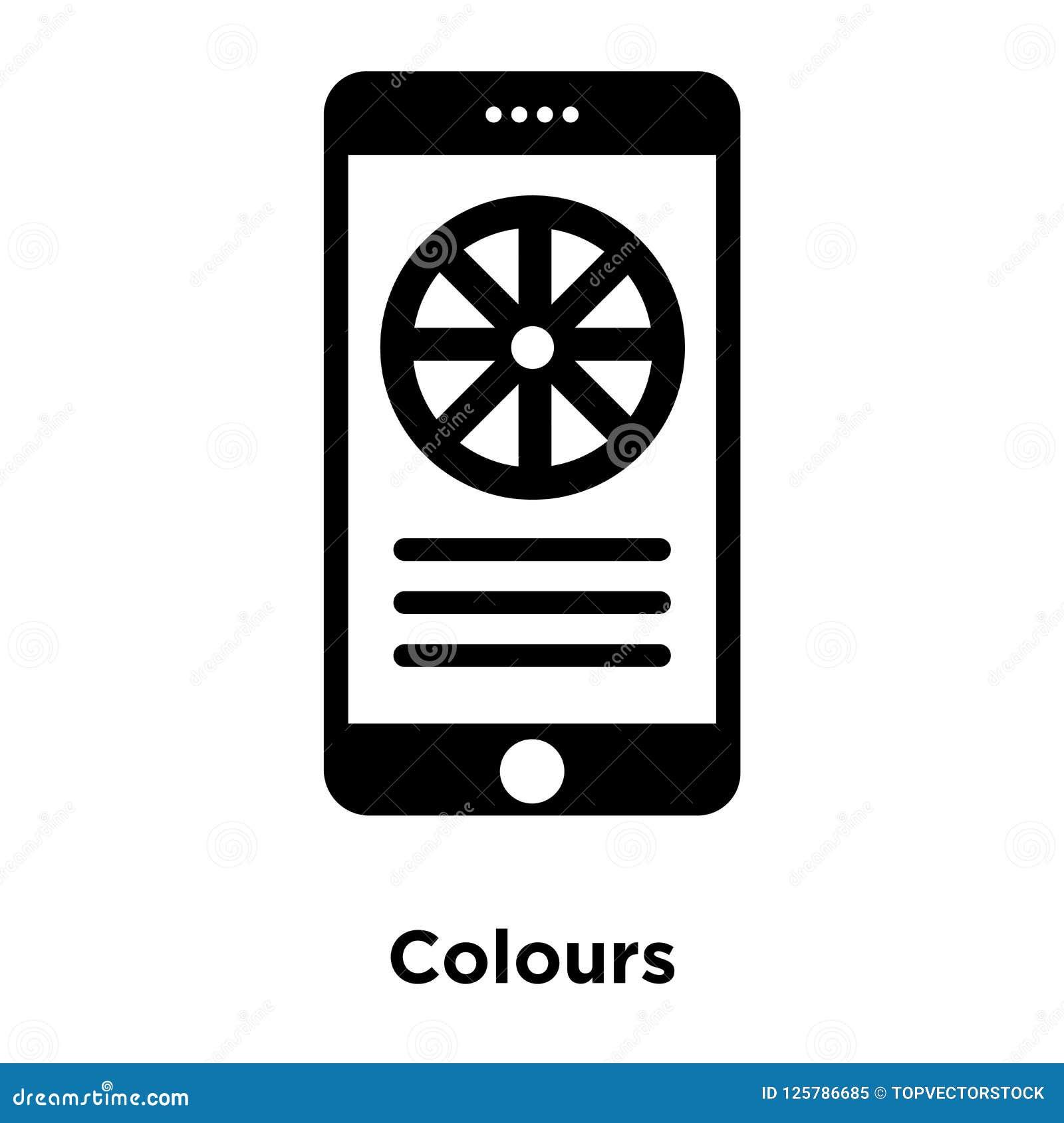 Colorea vector del icono aislado en el fondo blanco, concepto o del logotipo