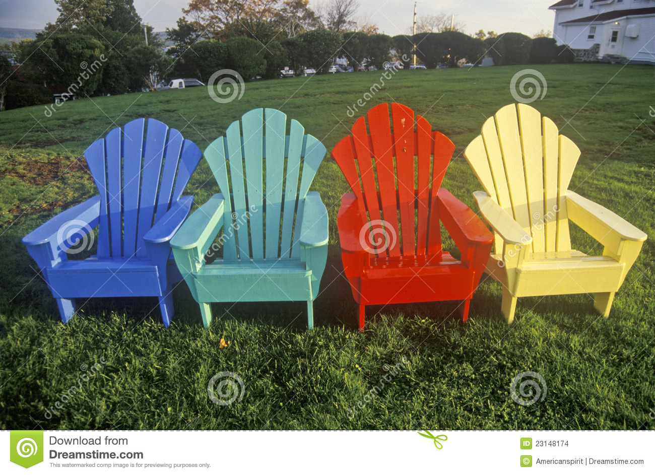 Colored Adirondack Chairs