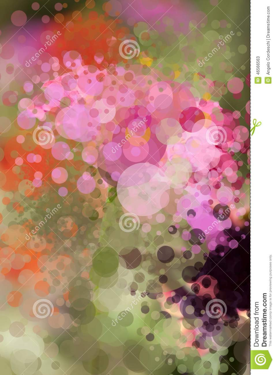 colored background with a lot of bubbles flower theme stock