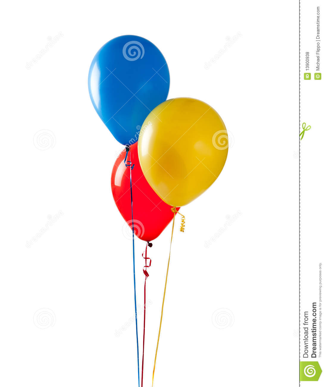 Colored Balloons On A White Background Royalty Free Stock ...