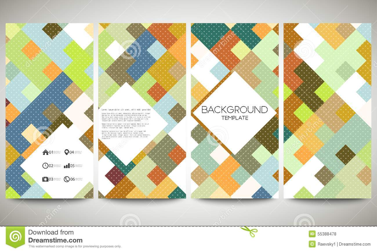 Colored Banners Collection, Flyer Layouts, Vector Stock Vector ...