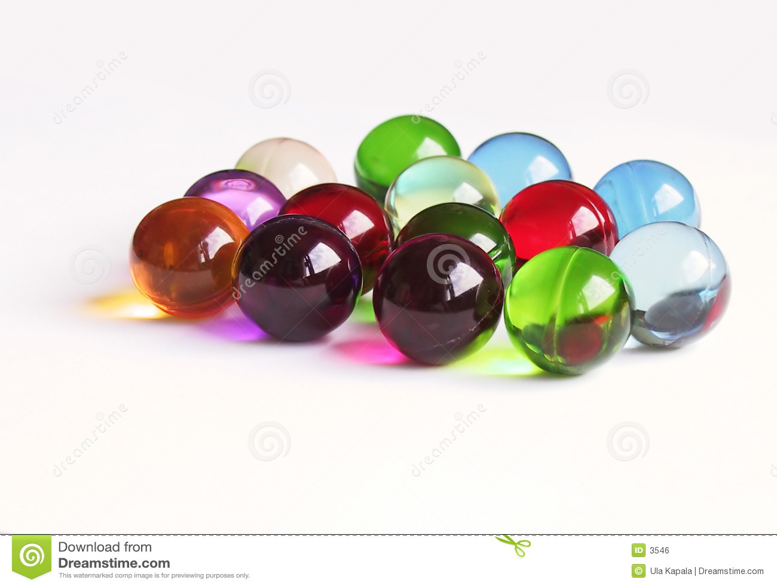 Colored bath balls