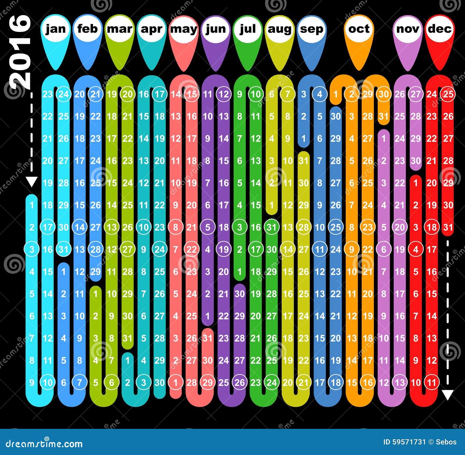 Calendar Illustration Board : Colored board game calendar stock vector image