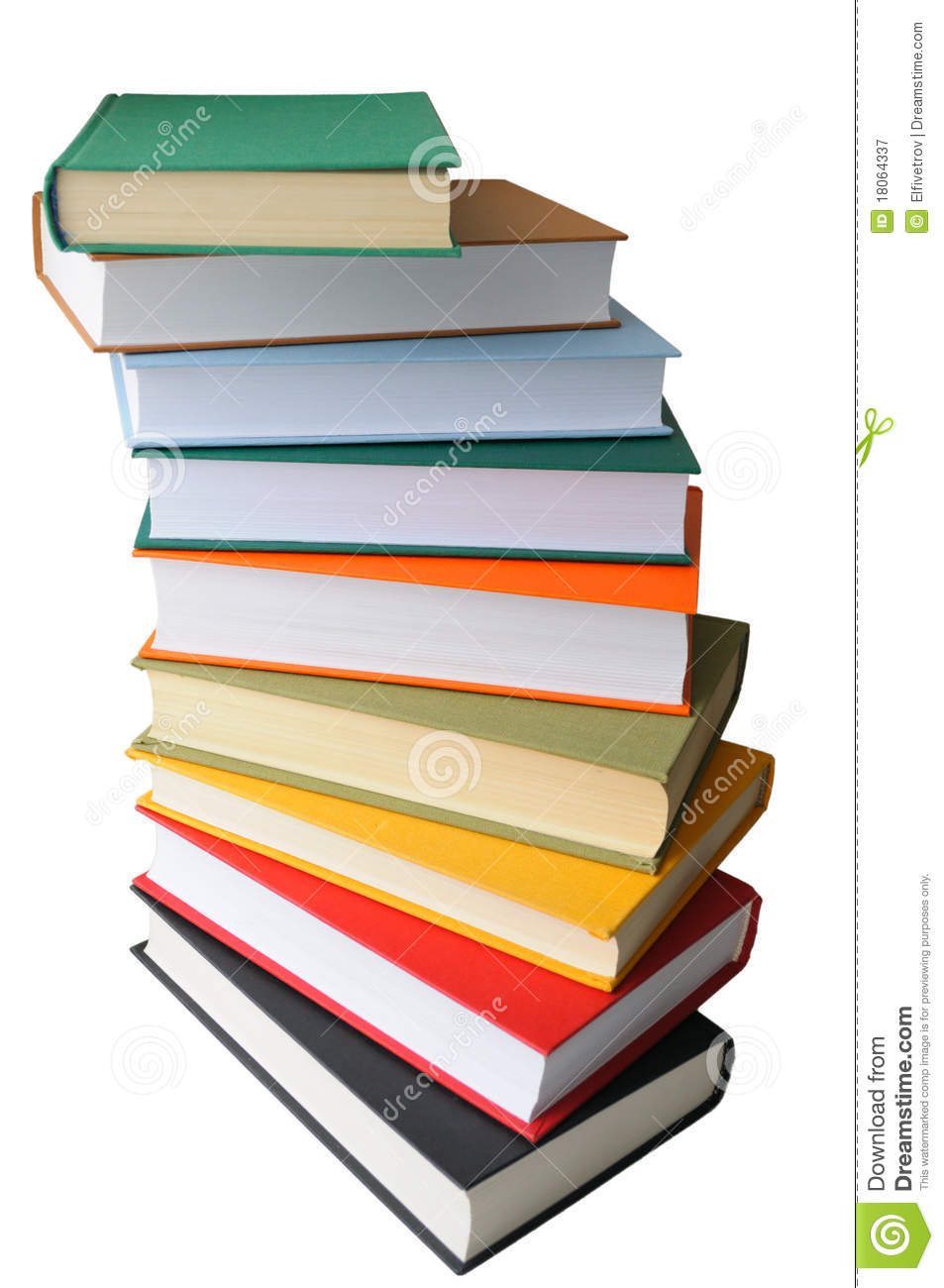 Colored Books On White Background Stock Image - Image of blue ...
