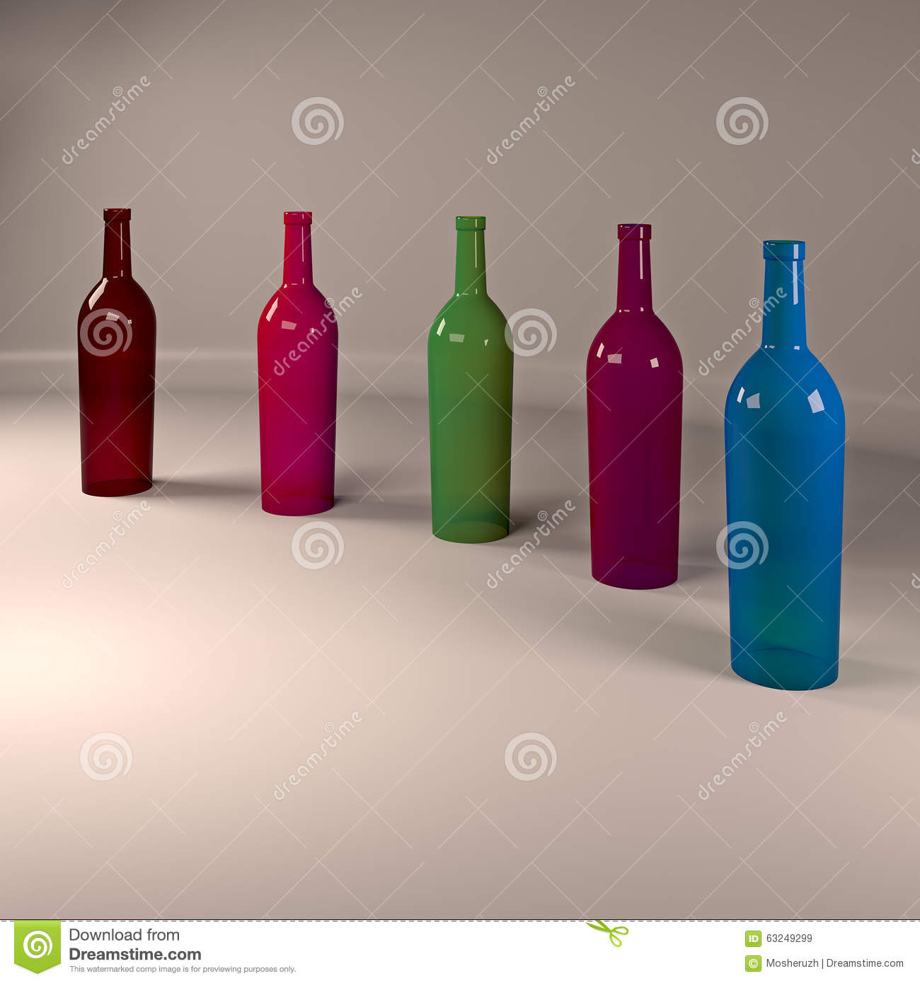Colored bottles stock illustration image 63249299 for Where to buy colored wine bottles