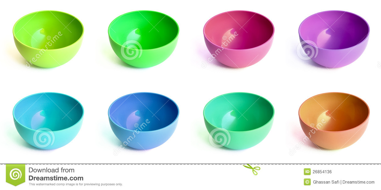 Download Colored bowls stock photo. Image of cups, bowl, plate - 26854136
