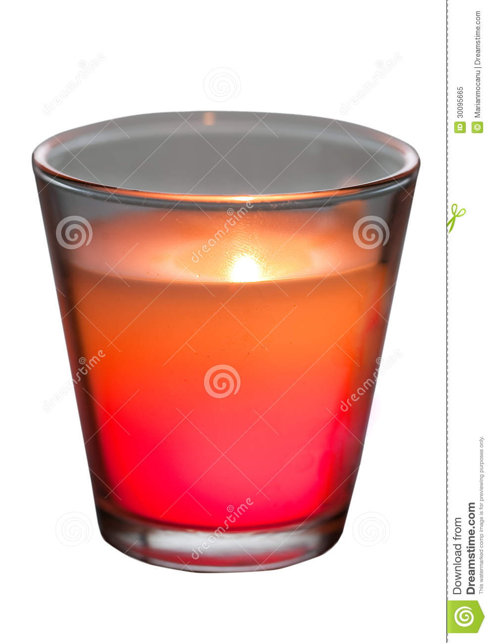 red candle white background - photo #29