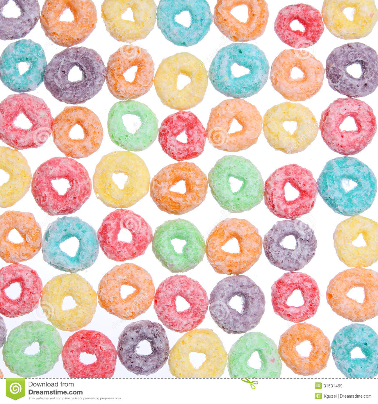 Colored Cereal Loops, Texture Stock Image - Image of colored