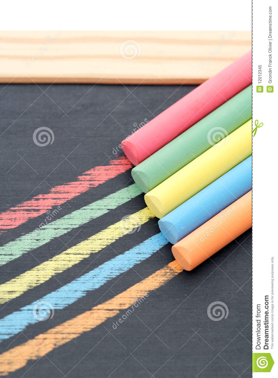 Colored chalks
