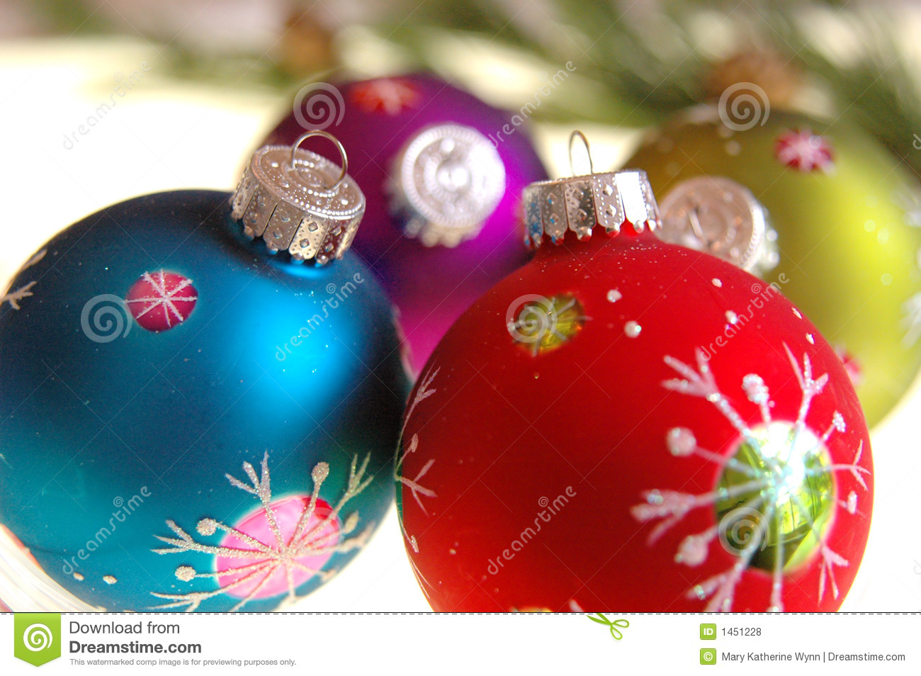 christmas colored ornaments