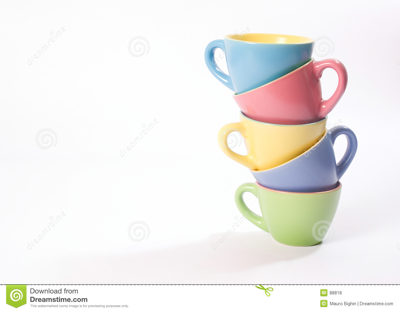 colored coffee cups stock photo image of morning coffee 88818
