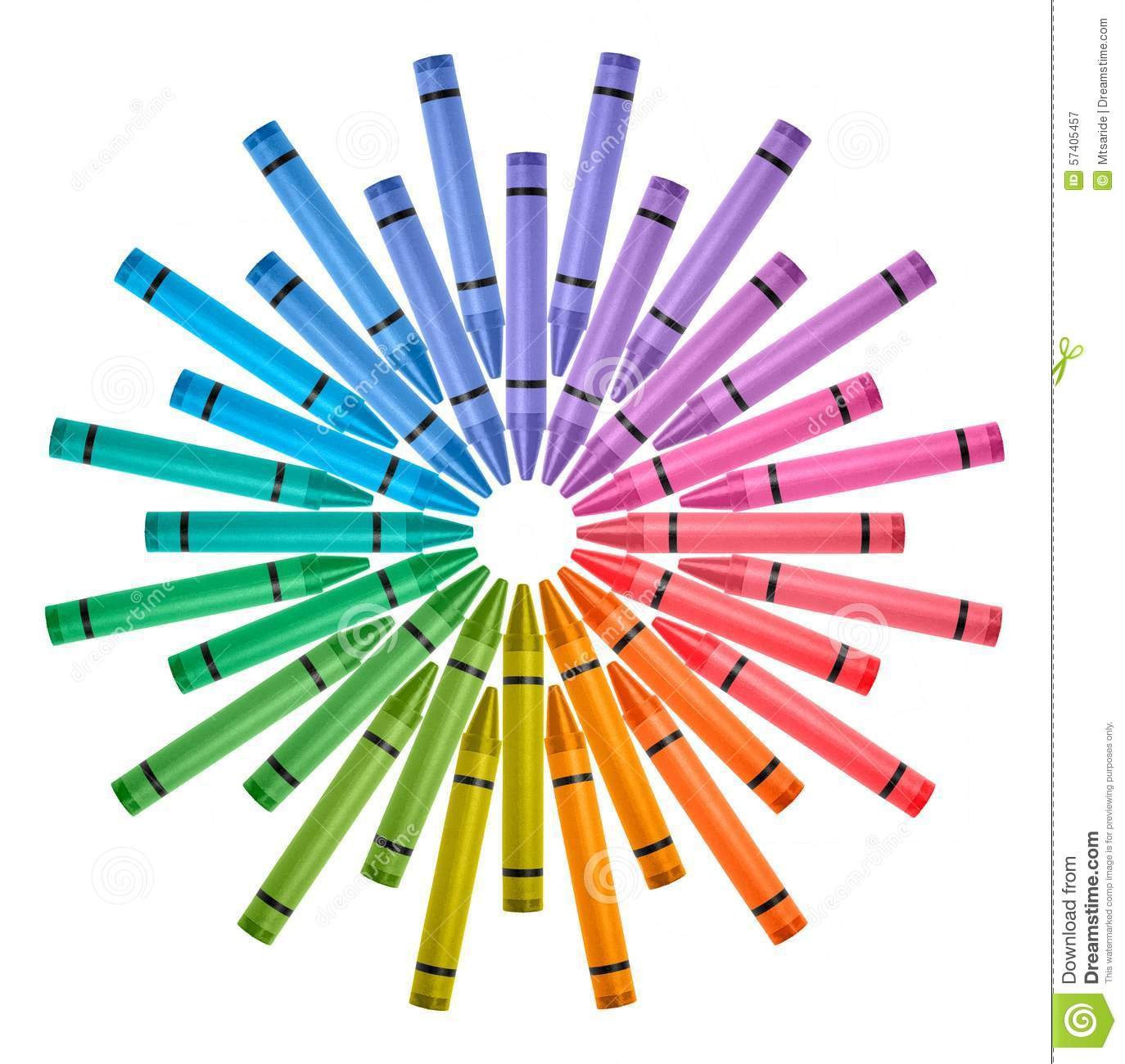 Crayon Colored Circle : Colored crayons color wheel stock image