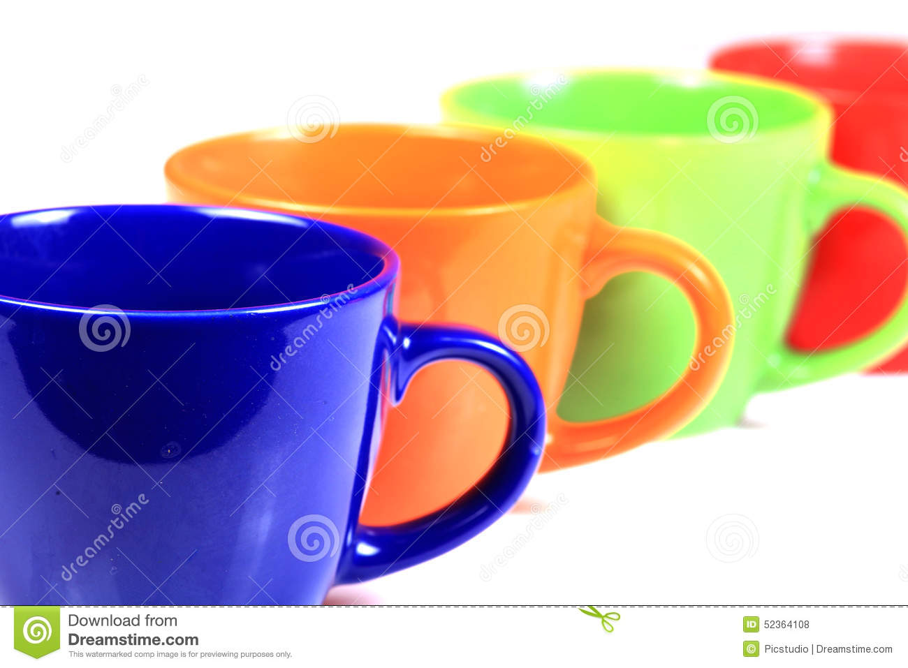 Colored Cups Stock Photo Image 52364108