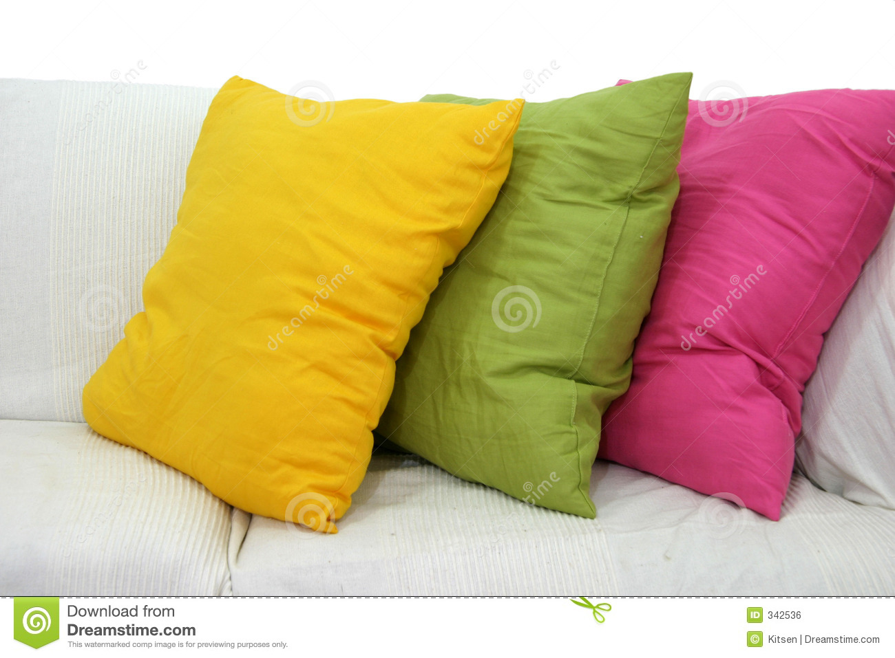 Colored Cushions Stock Photo Image Of Couch Settee