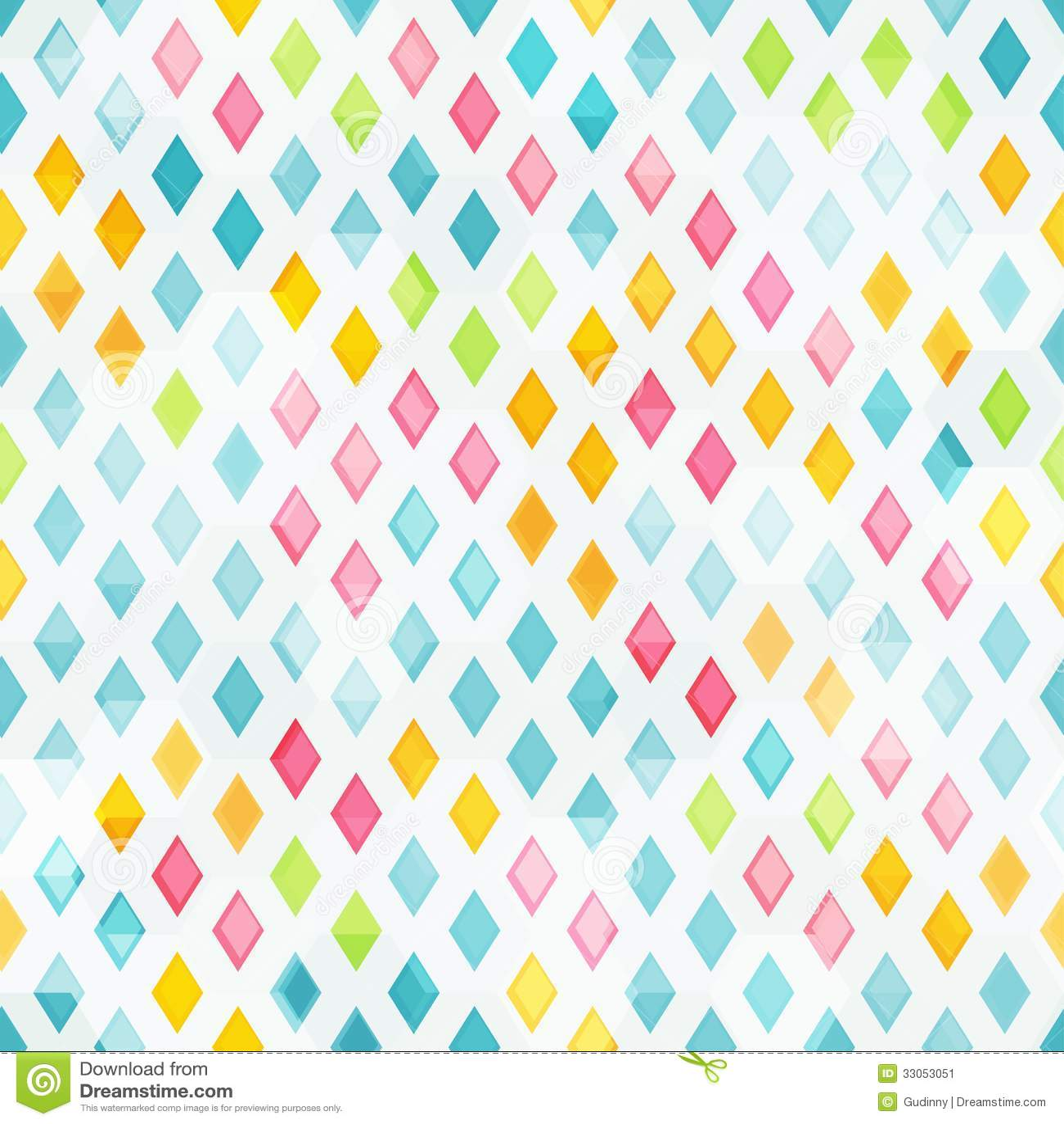 Colored Diamond Seamless Pattern Stock Image Image
