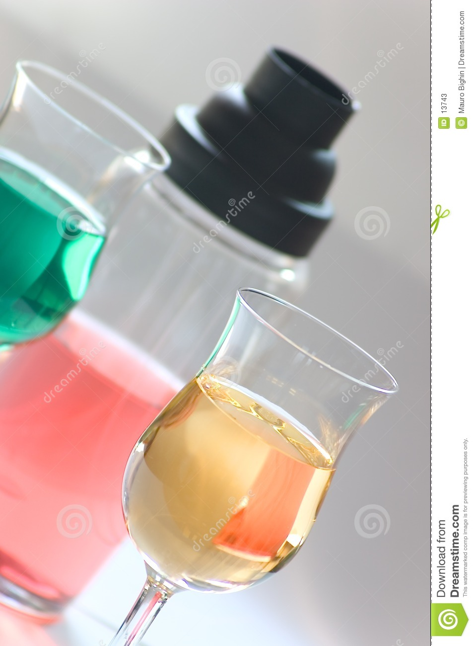 Colored drinks - cocktail set