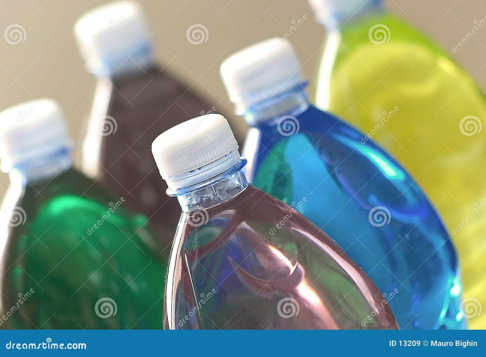 Colored drinks - plastic bottles