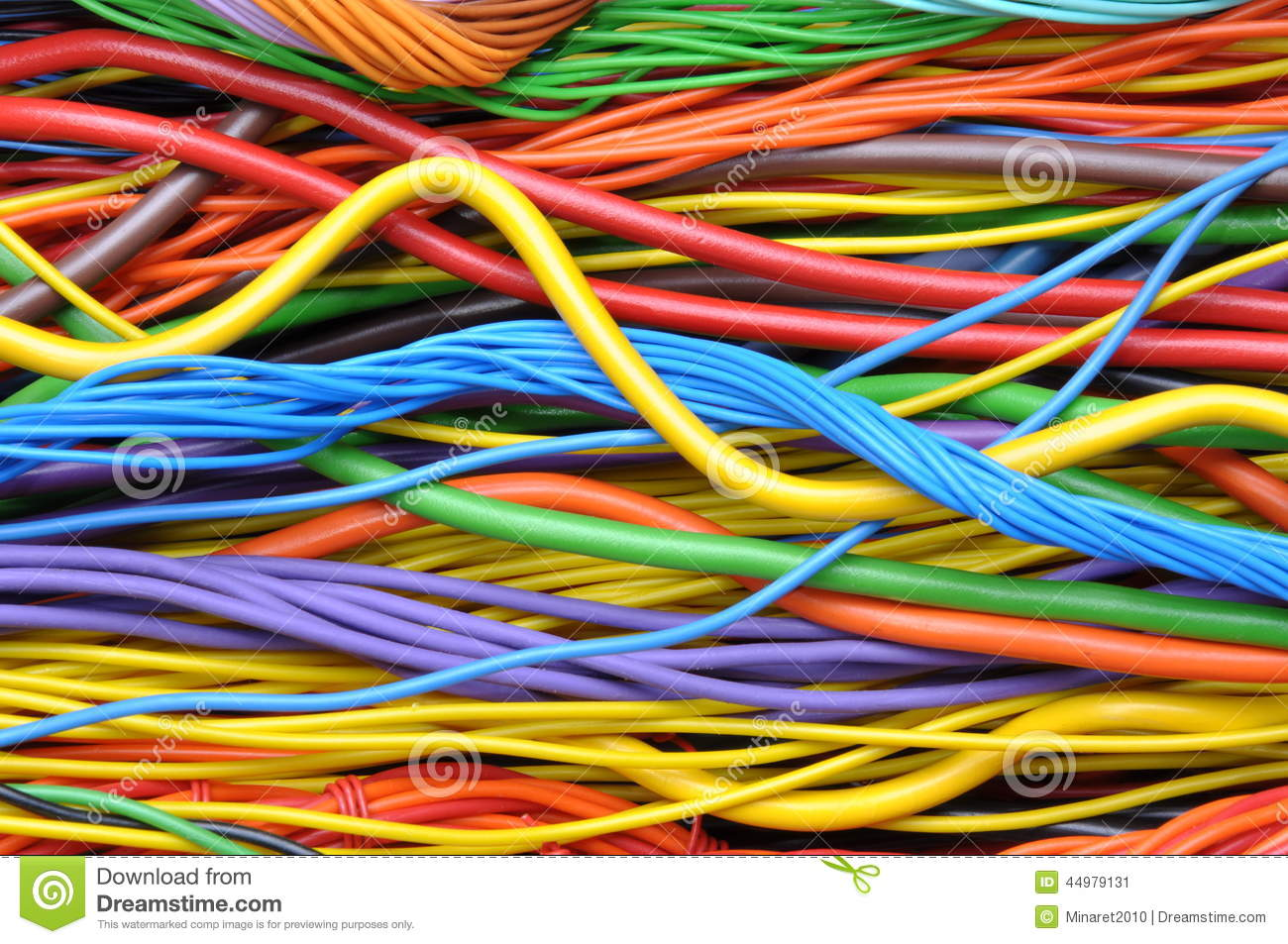 Colored Electrical Cables And Wires Stock Image Image Of