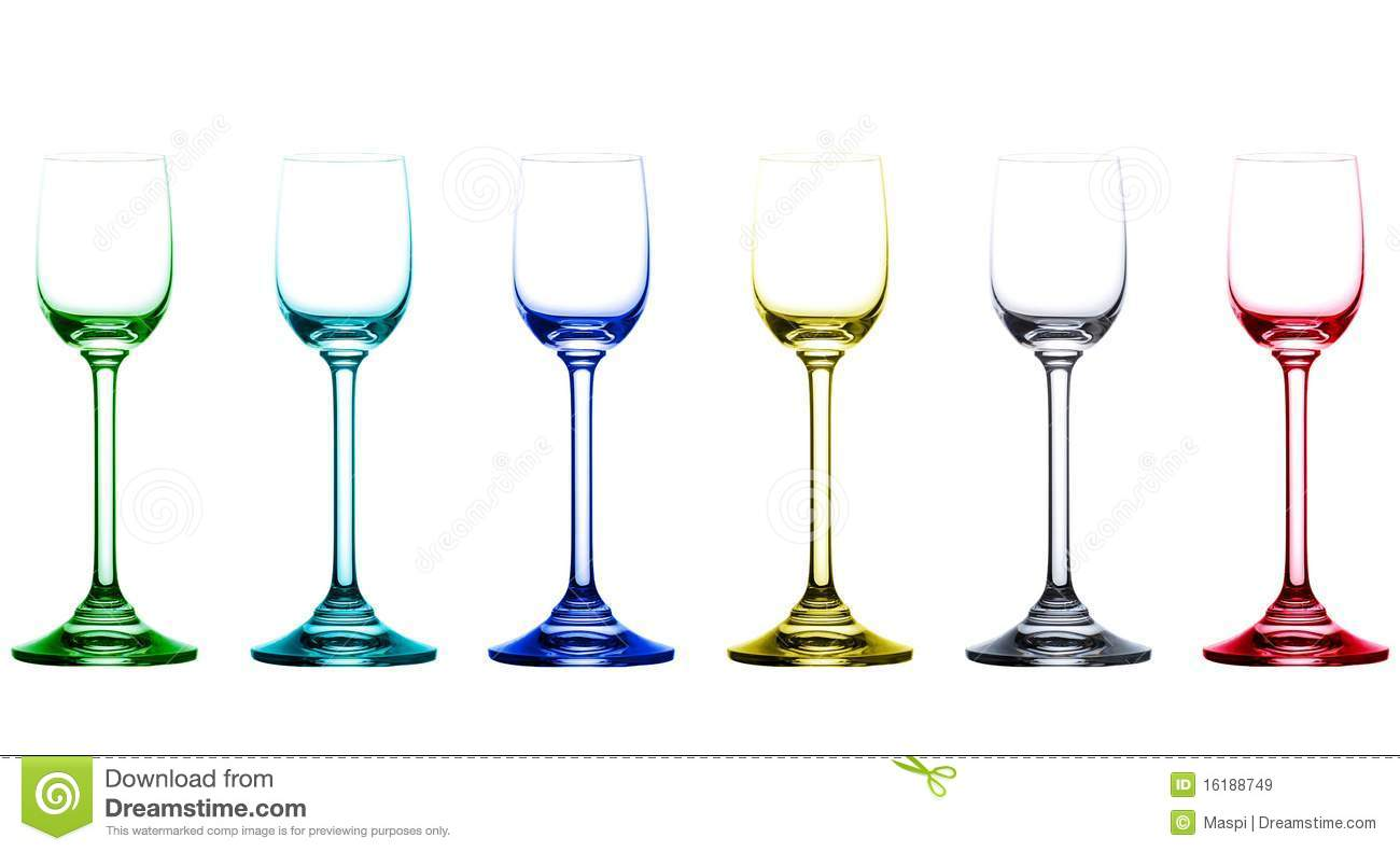 Red Colored Drinking Glasses