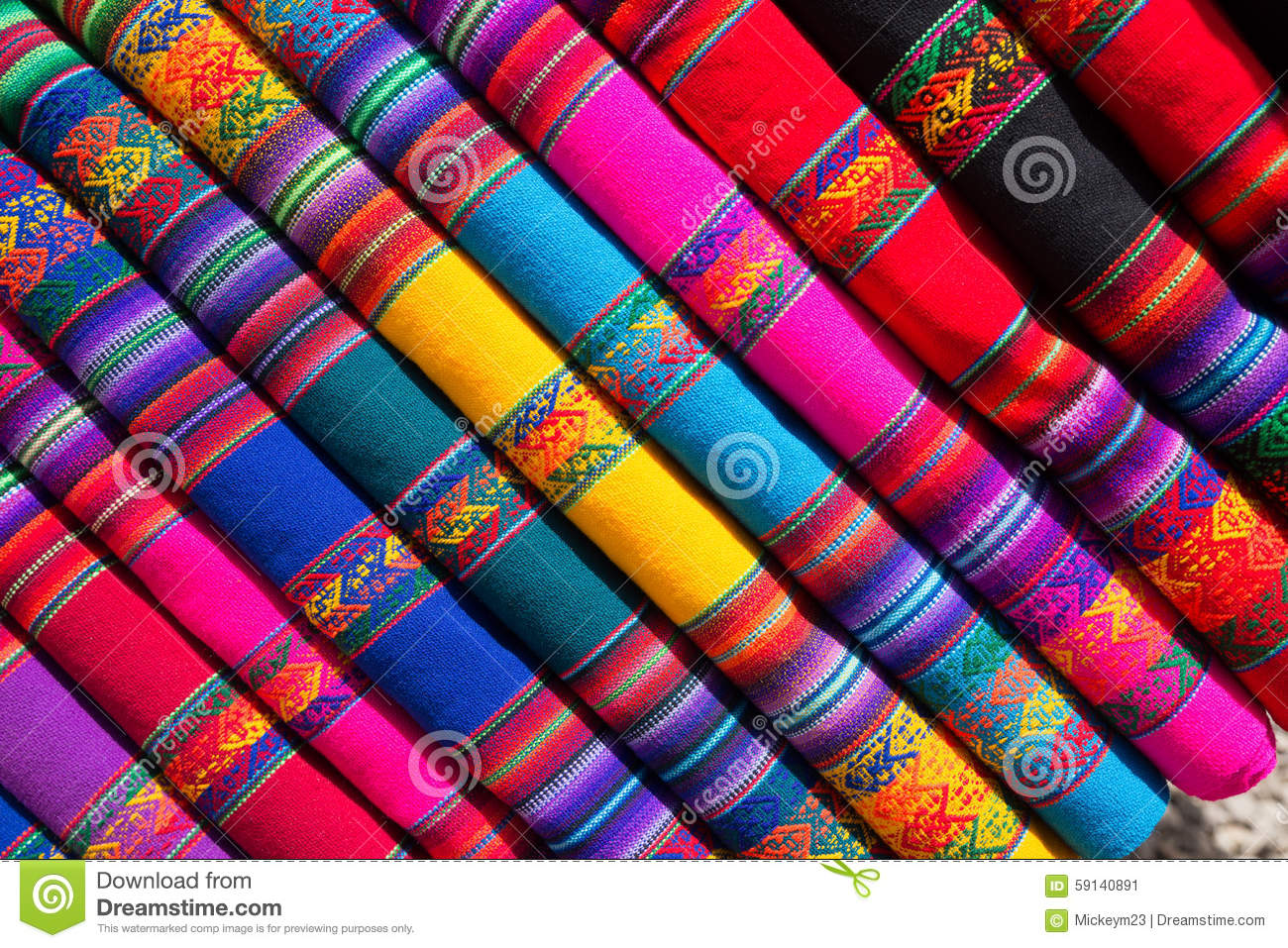 Colored Fabric Stock Image Image Of Colorful Geometric