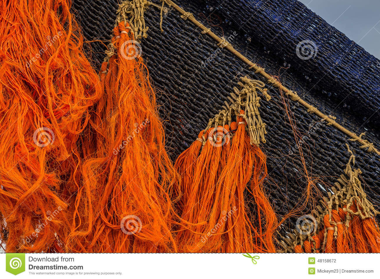 Colored fishing net stock photo. Image of netting, string - 48158672