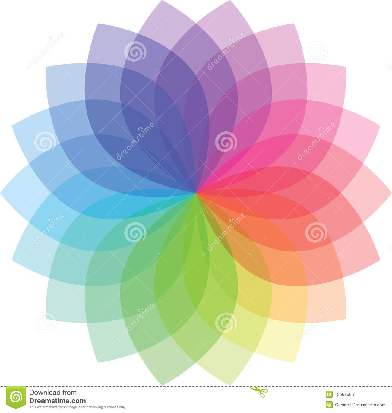 Colored Flower pattern