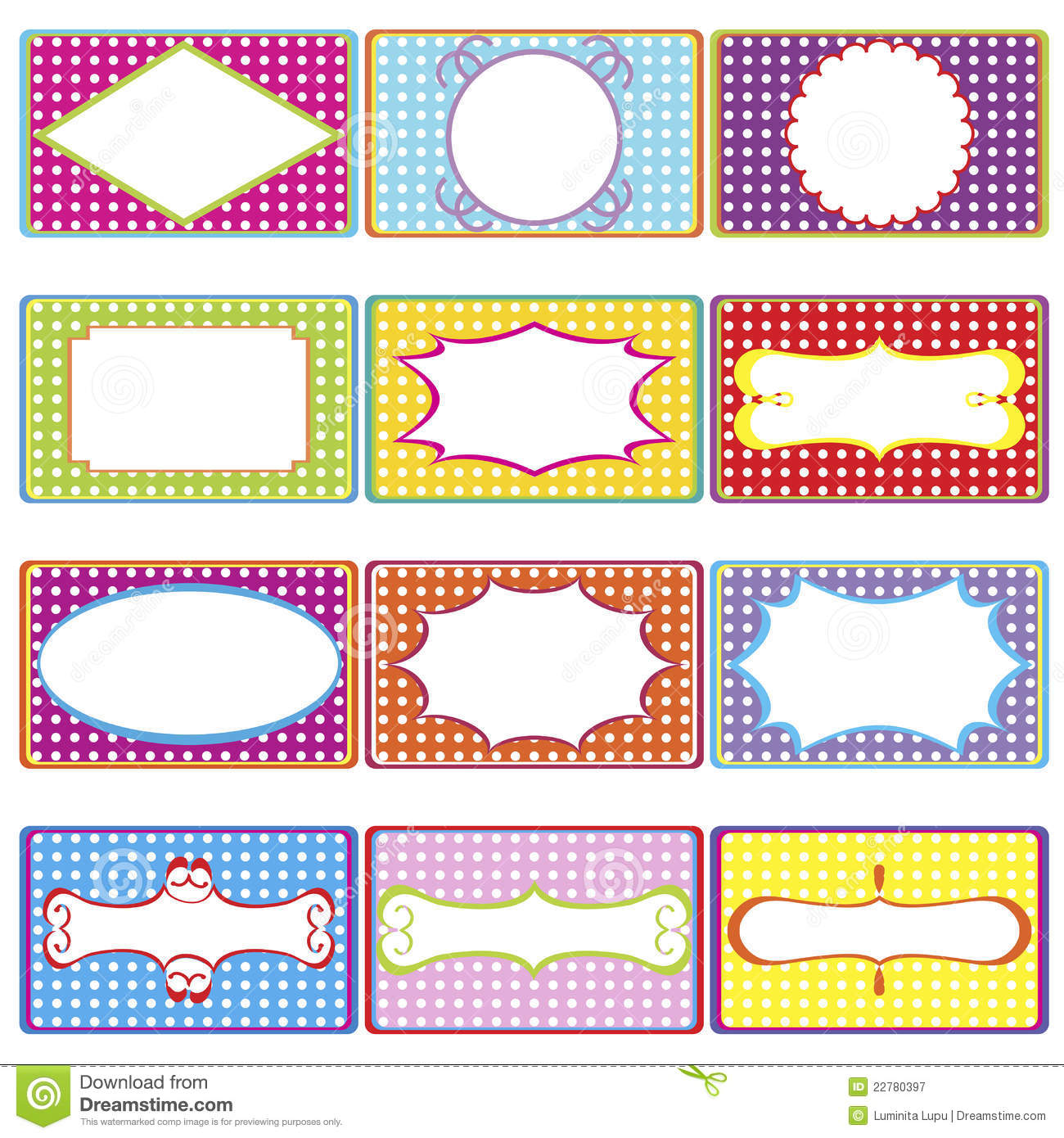 Colored frames stock vector. Illustration of frame, graphic - 22780397