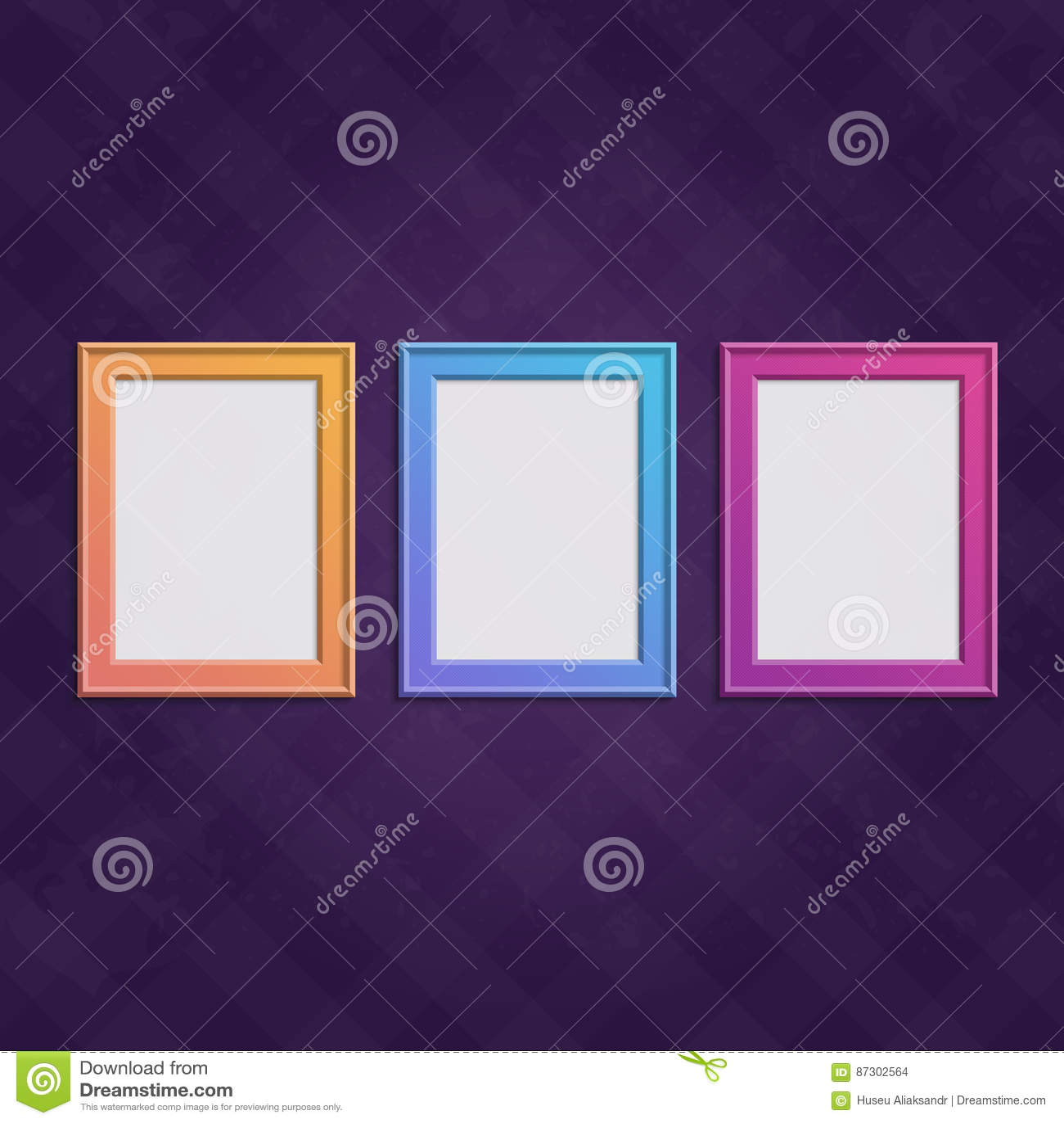 Wood frames set free vector - Colored Frames Set Stock Vector
