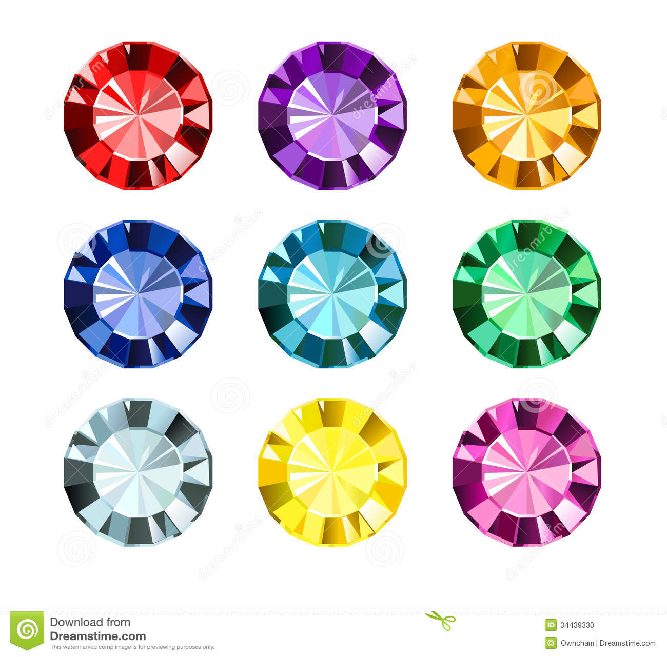 Colored Gems Stock Photo - Image: 34439330
