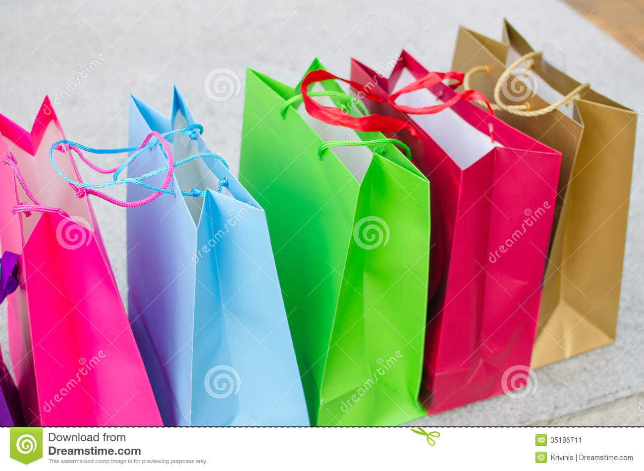 Colored Gift Bags Stock Image Image Of Holiday Colors