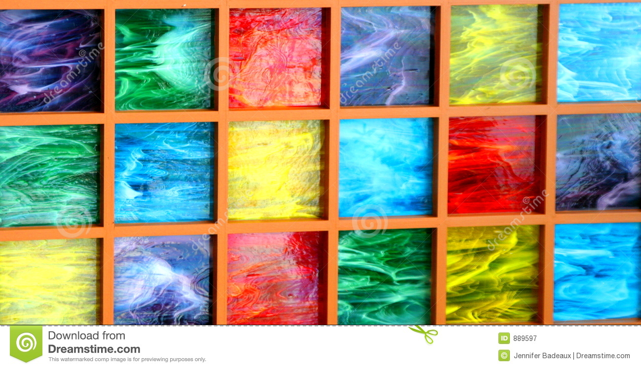 Colored Glass Blocks Stock Image Image Of Multi Glass