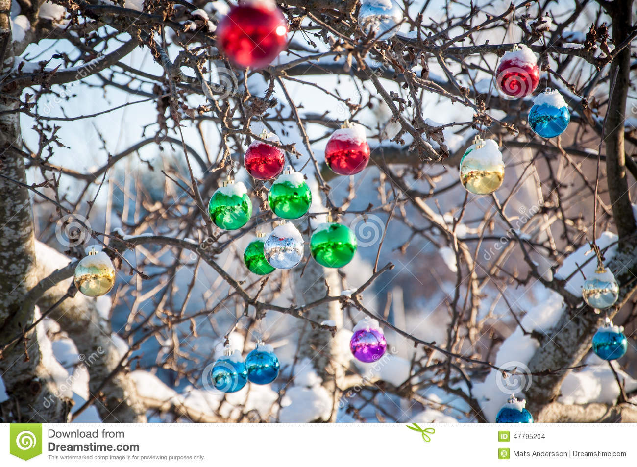 Colored Glass Christmas Decoration Stock Photo