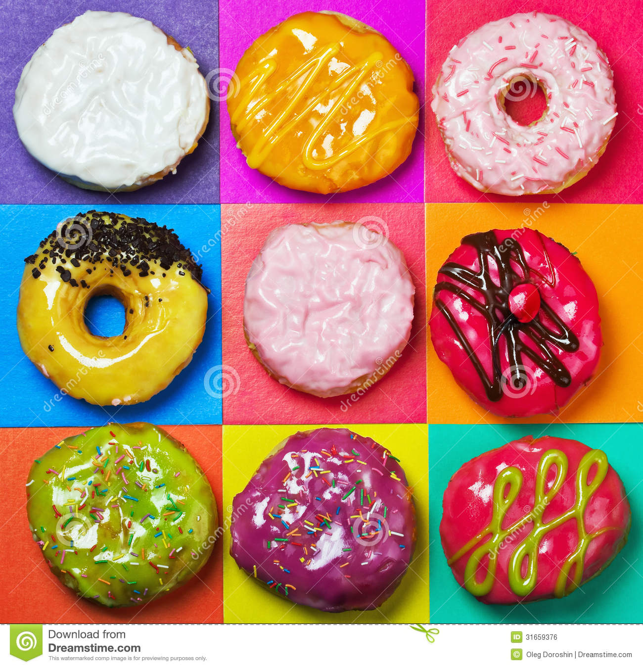 Colored Glazed Donuts Royalty Free Stock Image - Image ...